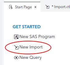 Import Excel to SAS Studio